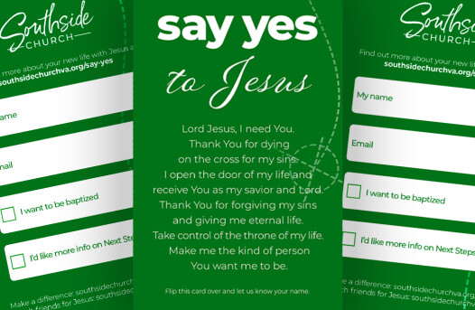 Say Yes To Jesus Card